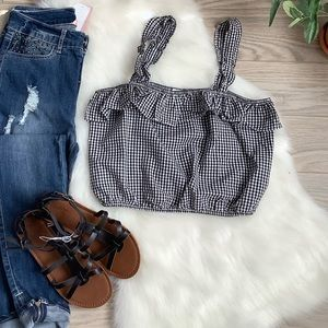 American Eagle black and white checked top❤️❤️❤️❤️